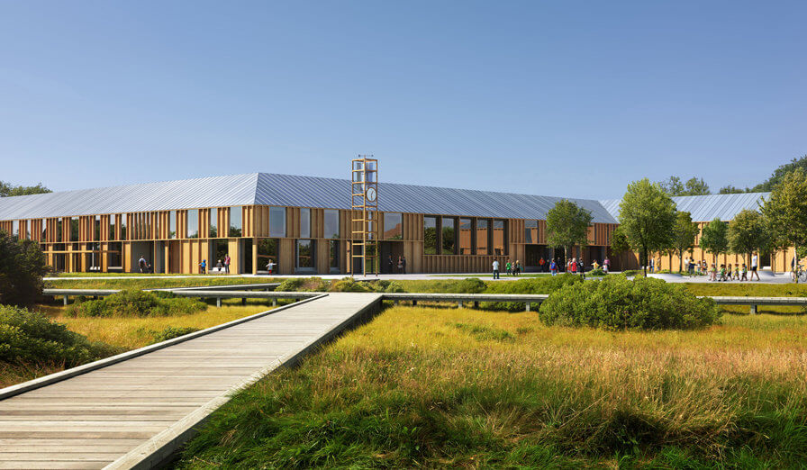 3RW arkitekter with HLM Arkitekter wins competition for a new school in Kopervik!